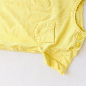 Carter's One Pieces - Yellow Pocket Short Sleeve Onesie